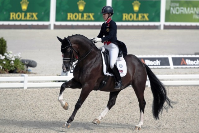 Charlotte Dujardin and Valegro claimed another world title in Normandy today ©AFP/Getty Images