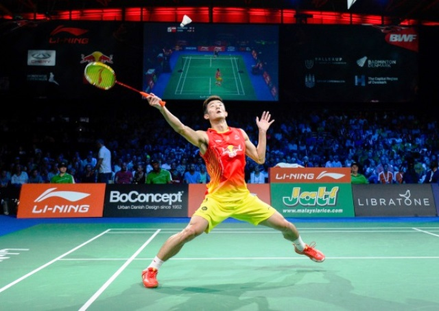 Chen Long of China came through his World Championship semi-final against Indonesian Tommy Sugiarto ©AFP/Getty Images