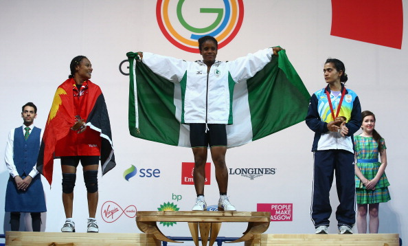 Chika Amalaha has been stripped of the gold she was initially awarded in the under 53kg weightlifting ©Getty Images