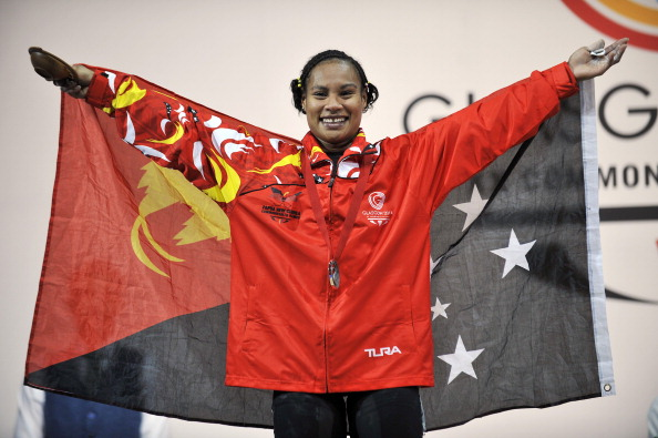 Dika Toua won one of Papua New Guinea's two gold medals at the Glasgow 2014 Commonwealth Games ©AFP/Getty Images