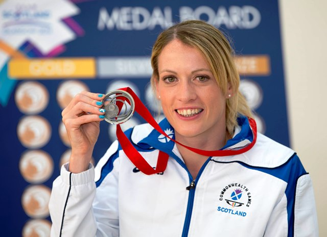 Double Commonwealth Games silver medal winner Eilidh Child will be appearing at the Women in Sport Conference at the University of Stirling ©Team Scotland