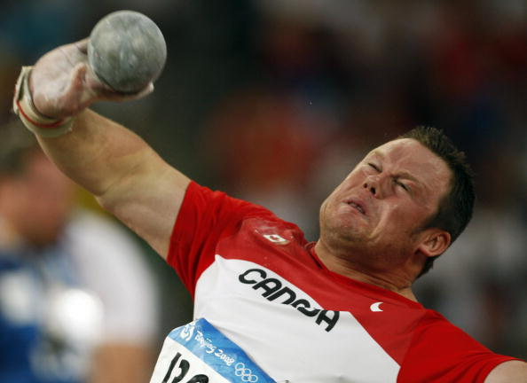 Dylan Armstrong of Canada has belatedly been awarded a shot put bronze medal from Beijing 2008 ©AFP/Getty Images