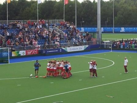 England celebrate reaching the hockey final ©ITG