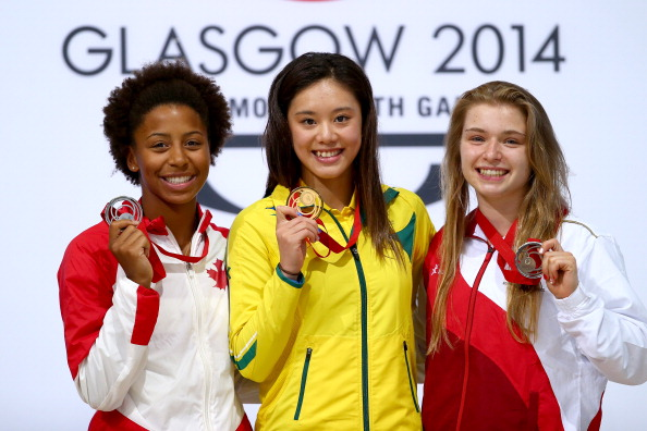 Esther Chin of Australia won gold in the 3m springboard contest ©Getty Images