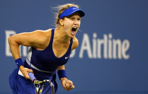 Eugenie Bouchard needed three sets to beat her opponent Sorana Cirstea ©Getty Images