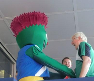 Clyde in the VIP enclosure at the athletics ©Philip Barker