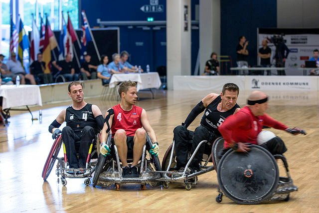 Denmark and New Zealand got the Wheelchair Rugby World Championships in Odense underway ©Brian Mouridsen/Danish NPC