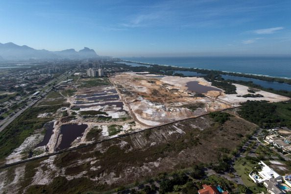 Despite concerns about whether the under-construction Olympic golf course will be able to hold a test event a year before the Games, it has been pencilled in for August 2015 ©AFP/Getty Images