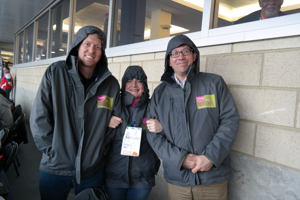Duncan,  Sarah and Paul on hand at Hampden Park for all of tonights action