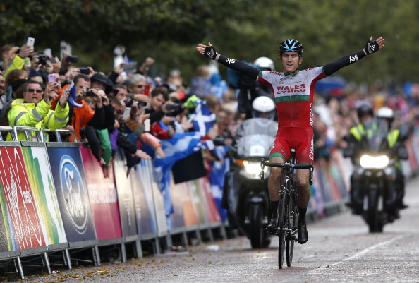 Geraint Thomas won gold in the road race for Wales ©Getty Images