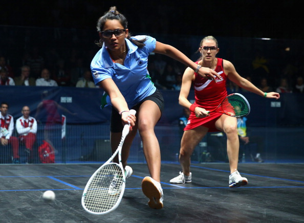 India pulled of a shock victory over top seeds England in the womens squash doubles today ©Getty Images