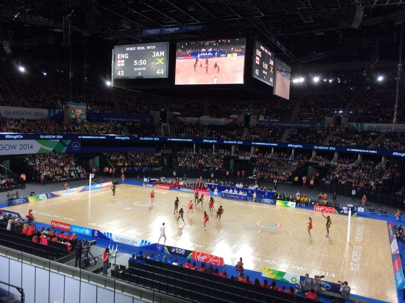 Jamaica versus England in the netball bronze medal match ©ITG