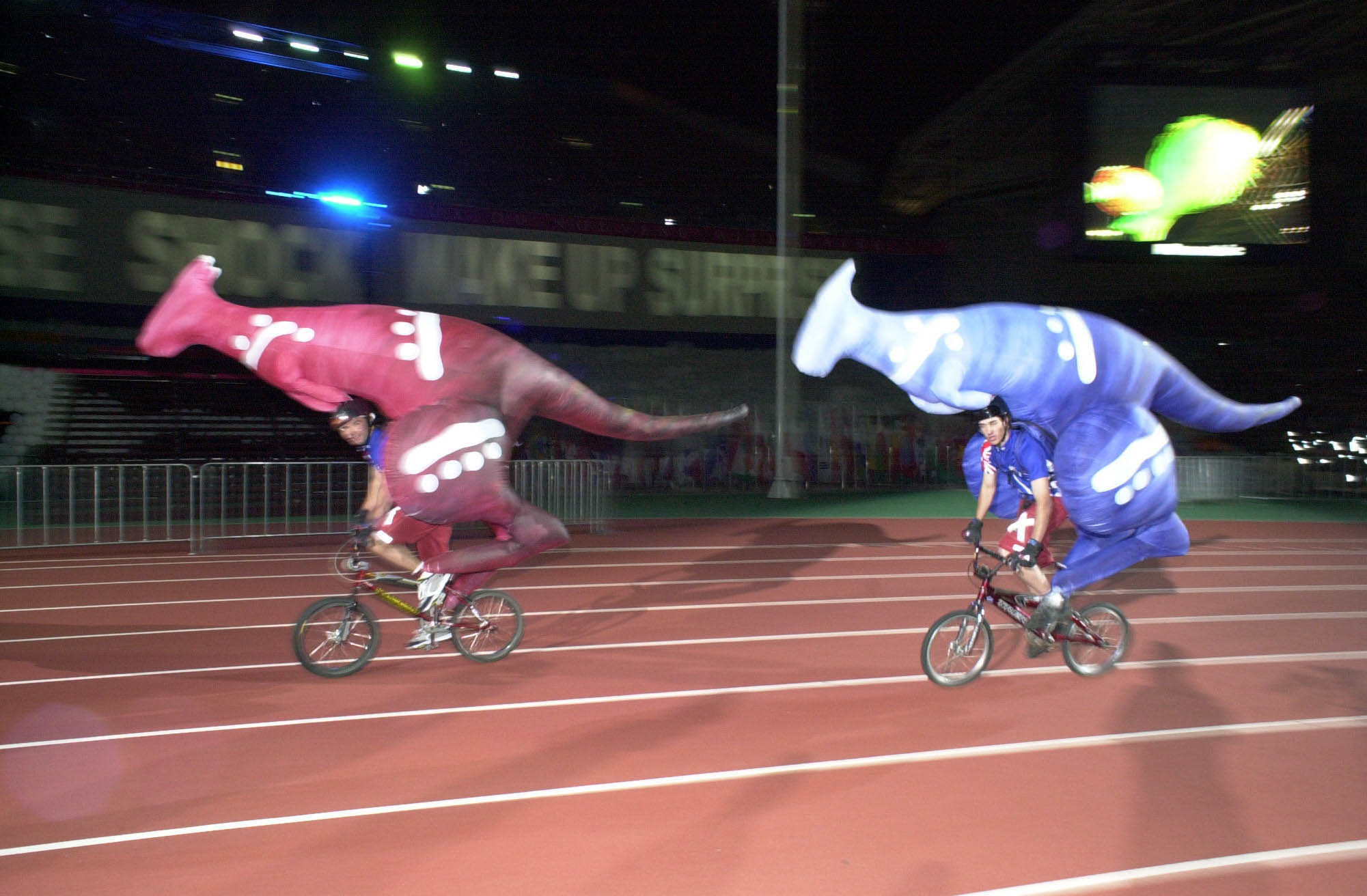 Kangaroos on bicycles formed a memorable part of the Closing Ceremony of Atlanta 1996 ©Wikipedia