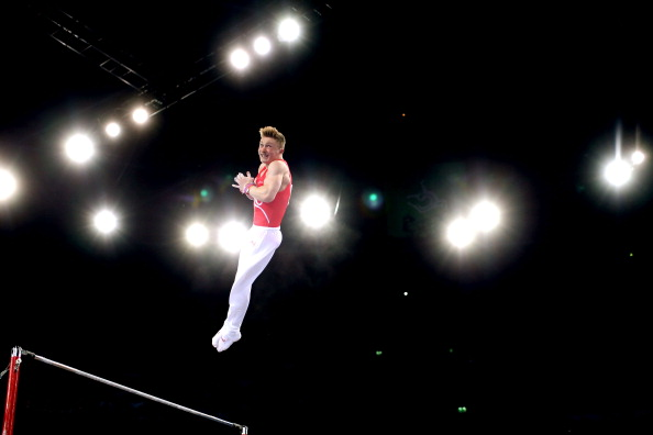 Nile Wilson took gold in the men's horizontal bars earlier today ©Getty Images