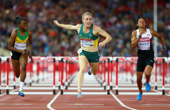 Sally Pearson of Australia wins gold in the 100m hurdles ©Getty Images