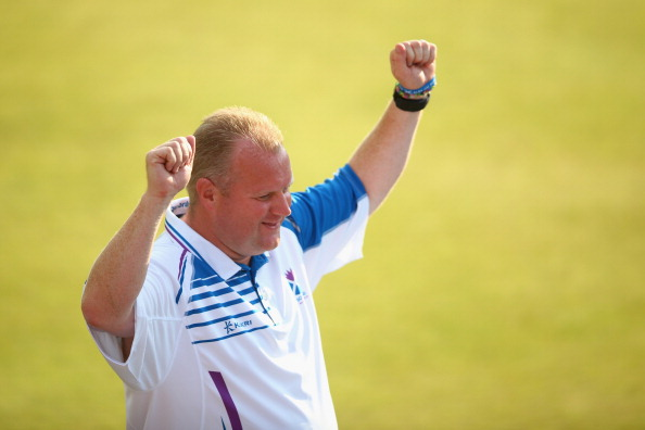 Scotland's Darren Barnett took gold in the men's lawn bowls singles ©Getty Images