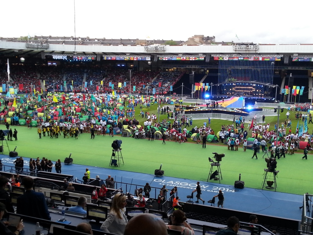 The Closing Ceremony is about get underway here at Hampden Park ©ITG
