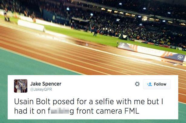 Usain Bolt selfie ©Twitter
