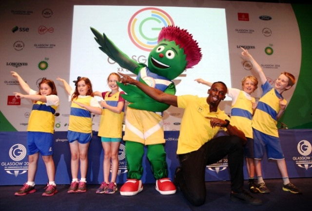 Glasgow 2014 mascot Clyde, seen here with Usain Bolt, was one of the most popular features of this year's Commonwealth Games ©Getty Images