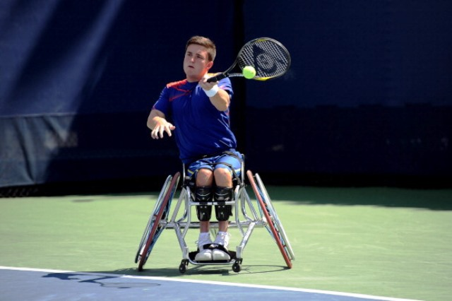 Gordon Reid is one of the home stars set to appear at the NEC Wheelchair Tennis Masters at the Queen Elizabeth Olympic Park ©Getty Images