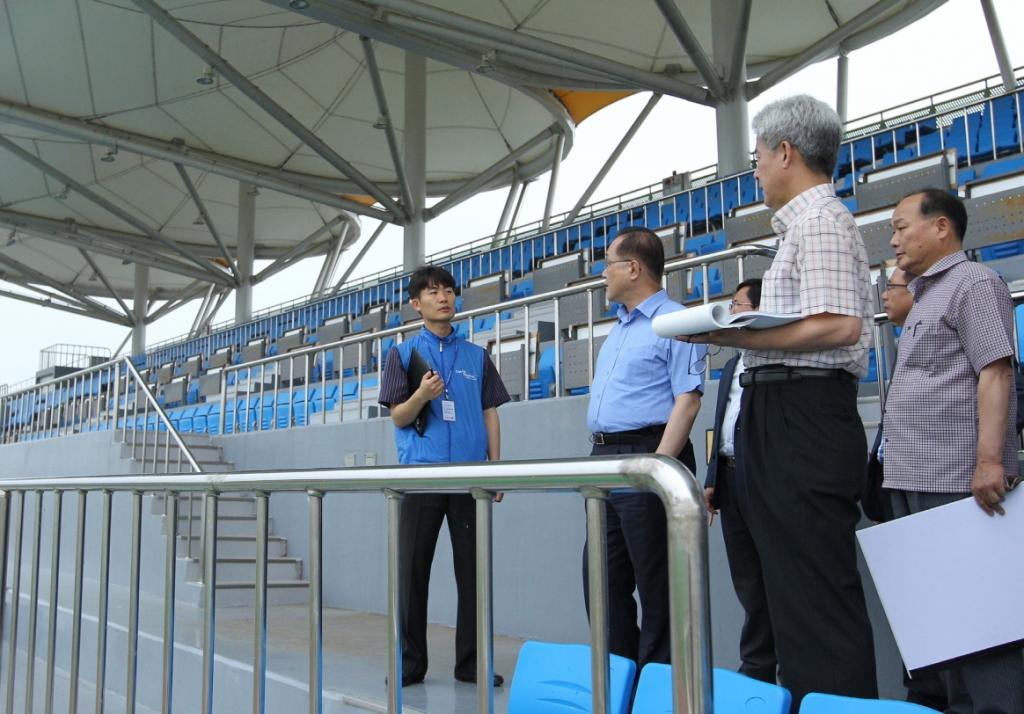 Gwangju 2015 has begun venue inspections ahead of the latest FISU visit ©Gwangju 2015