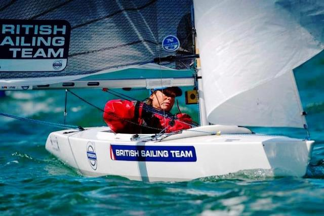 Helena Lucas has assumed control of the 2.4mR class in Halifax after a solid second day on the water ©Paul Wyeth/RYA
