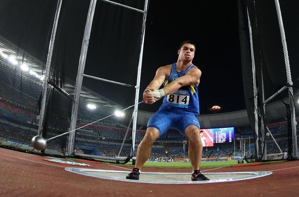 Hlib Piskunov of Ukraine won bronze in the men's hammer throw ©Nanjing 2014