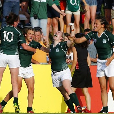 Ireland pulled off a historic win over New Zealand in the Women's Rugby World Cup ©Isabelle Picarel