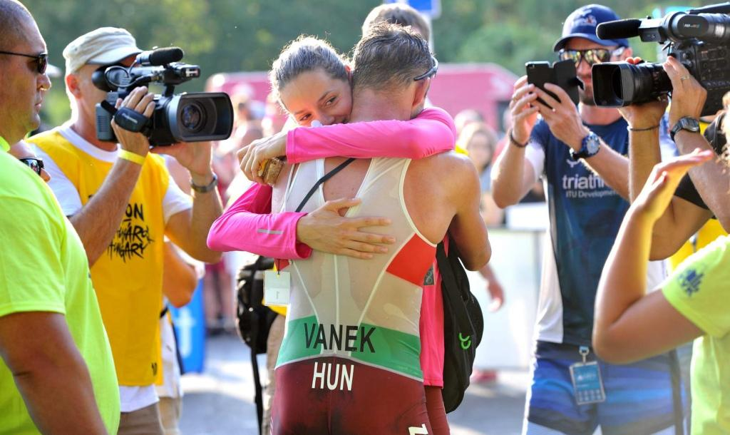It was almost double delight for the Vanek's at the Tiszaujvaros Triathlon World Cup ©ITU