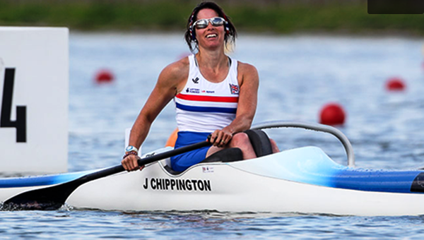 Jeanette Chippington has claimed two gold medals at the Para-canoe World Championships ©ICF