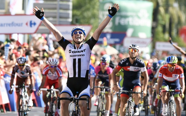 John Degenkolb of Germany broke away from the pack to win stage four of the Vuelta a España ©AFP/Getty Images