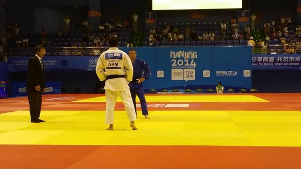 Judo action is up and running here in Nanjing ©Twitter