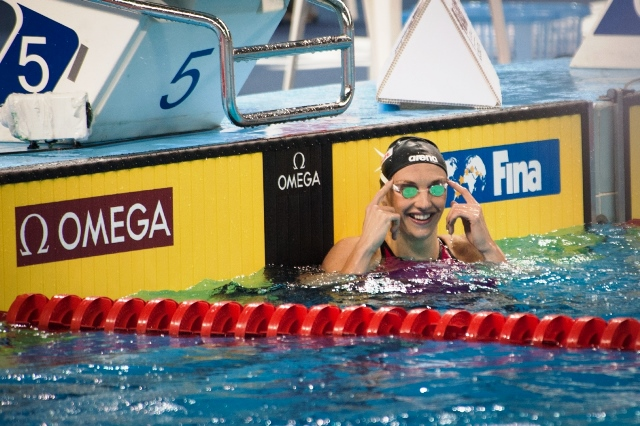 Katinka Hosszu was in record breaking form in Doha setting three world best times ©FINA World Cup
