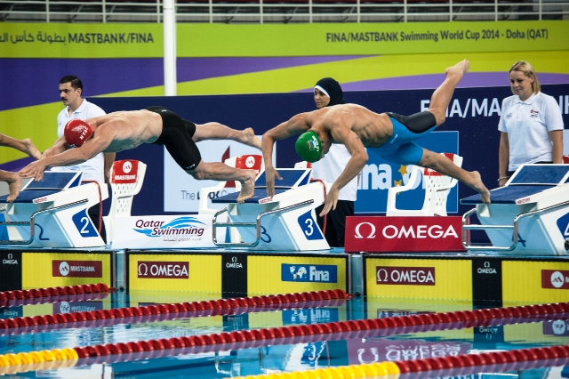 Reigning World Cup champion Chad le Clos began his campaign with two wins in Doha ©FINA World Cup