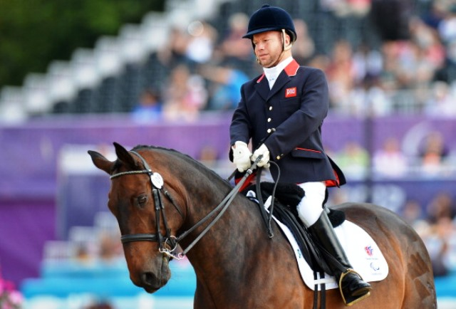 Lee Pearson claimed another gold at the World Equestrian Games in Normandy ©AFP/Getty Images