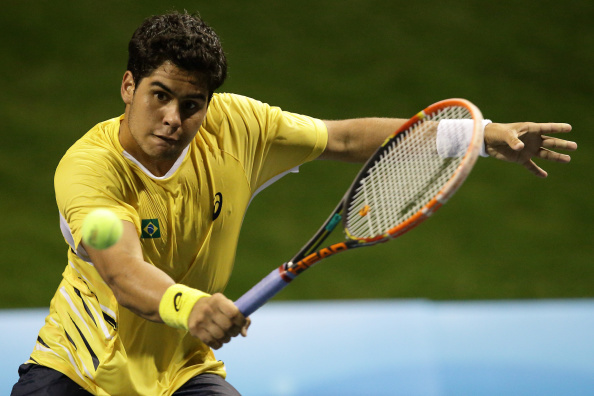 Marcelo Zormann Silva of Brazil was one half of the men's doubles tennis team that beat Russia to gold ©Getty Images