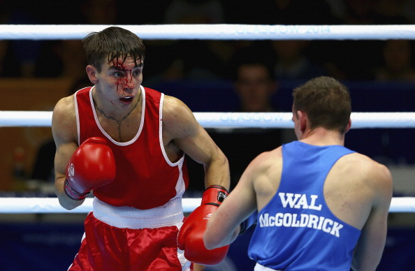 CK's Wu's words follow several boxers sustaining cuts after fighting without headguards in Glasgow, including Northern Irishman Michael Conlon en route to his bantamweight gold medal ©Getty Images