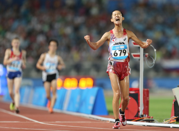 Minoru Onogawa of Japan won the men's 10,000m race walk ©Getty Images