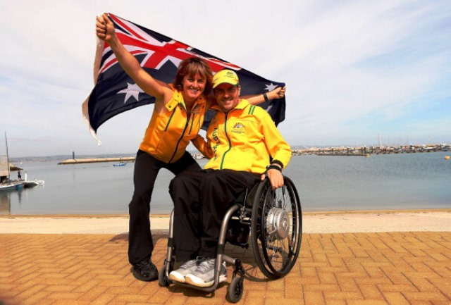 Paralympic champions Daniel Fitzgibbon and Liesl Tesch were one of four Australian crews to win on day five in Halifax ©Getty Images