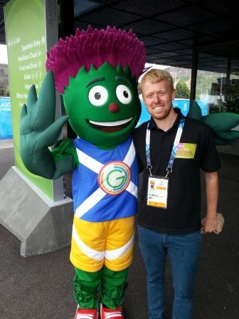 Paul Osborne has bumped into a certain mascot ©ITG