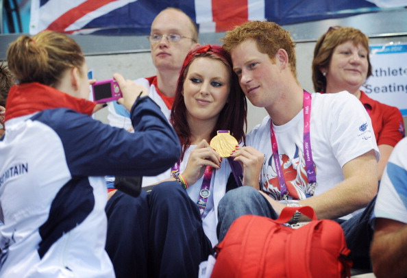 Prince Harry was a regular feature at the London 2012 Summer Paralympic Games ©Getty Images