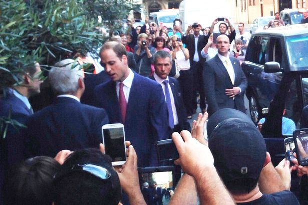 Prince William arriving for his special appearance at the Glasgow 2014 Wrap Party ©Glasgow 2014