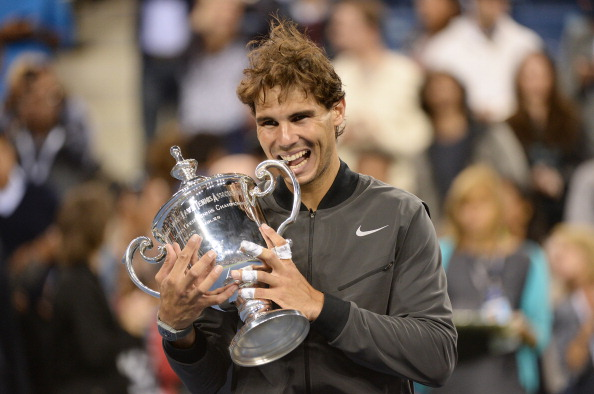 Rafael Nadal beat Novak Djokovic in four sets last year to win the US Open for the second time ©AFP/Getty Images