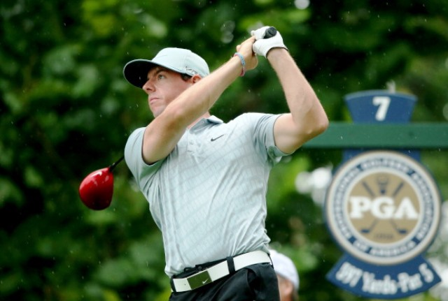 Rory McIlroy holds a one shot lead after two rounds of the USPGA Championship in Kentucky ©Getty Images