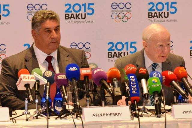 Germany's Chef de Mission Bernhard Schwank has been impressed by the efforts of Baku 2015, led by chief executive and Azerbaijan's Minister of Youth and Sports Azad Rahimov ©Baku2015
