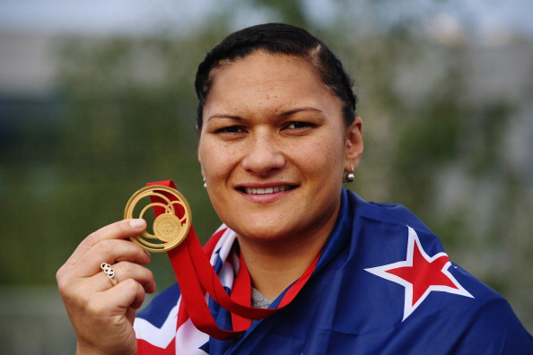 Shot put champion Valerie Adams was one New Zealand star at Glasgow 2014 ©Getty Images