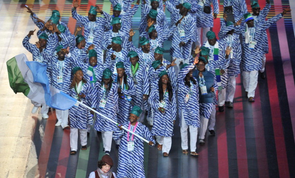Sierra Leone at the Opening Ceremony of Glasgow 2014 ©AFP/Getty Images