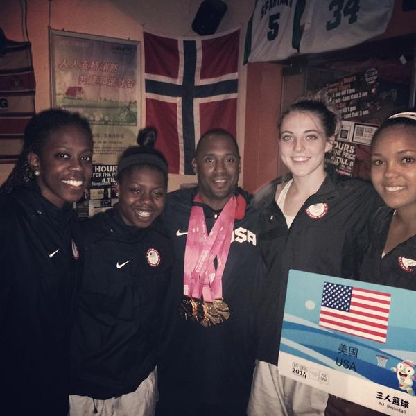 Team US claimed a well deserved gold in the women's 3x3 basketball final ©Twitter