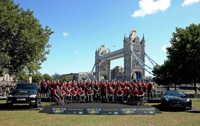 The British team for the inaugural Invictus Games was announced under Tower Bridge in London today ©Getty Images