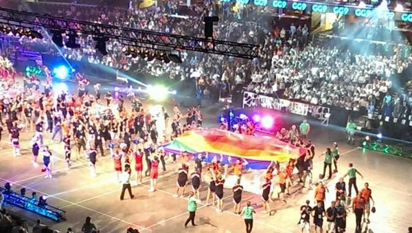 The Gay Games got underway with an Opening Ceremony featuring a message from President Obama ©Gay Games Cleveland